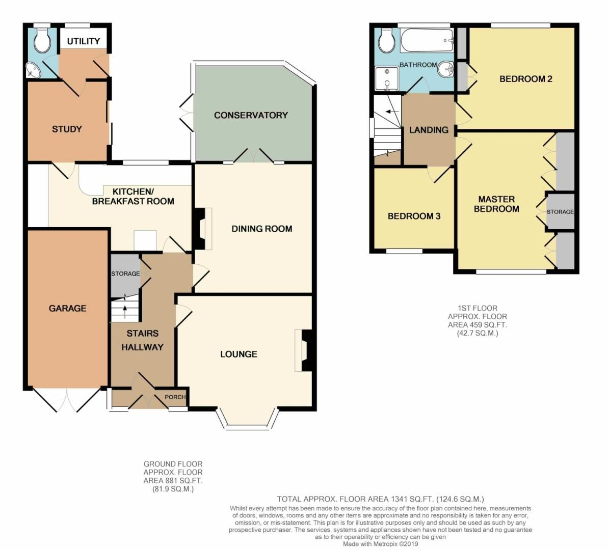 3 bed detached for sale in Stourbridge Road, Fairfield, Bromsgrove, B61 - Property Floorplan
