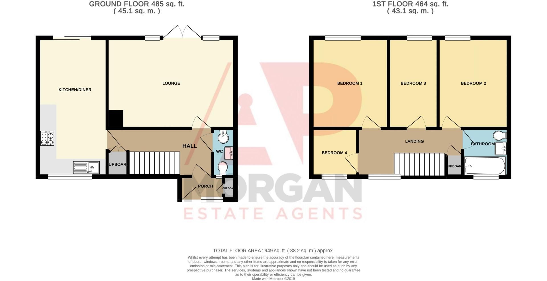 4 bed house for sale in Dormston Close - Property Floorplan