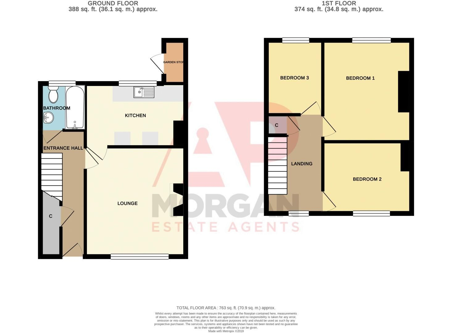 3 bed house for sale in Walker Street - Property Floorplan