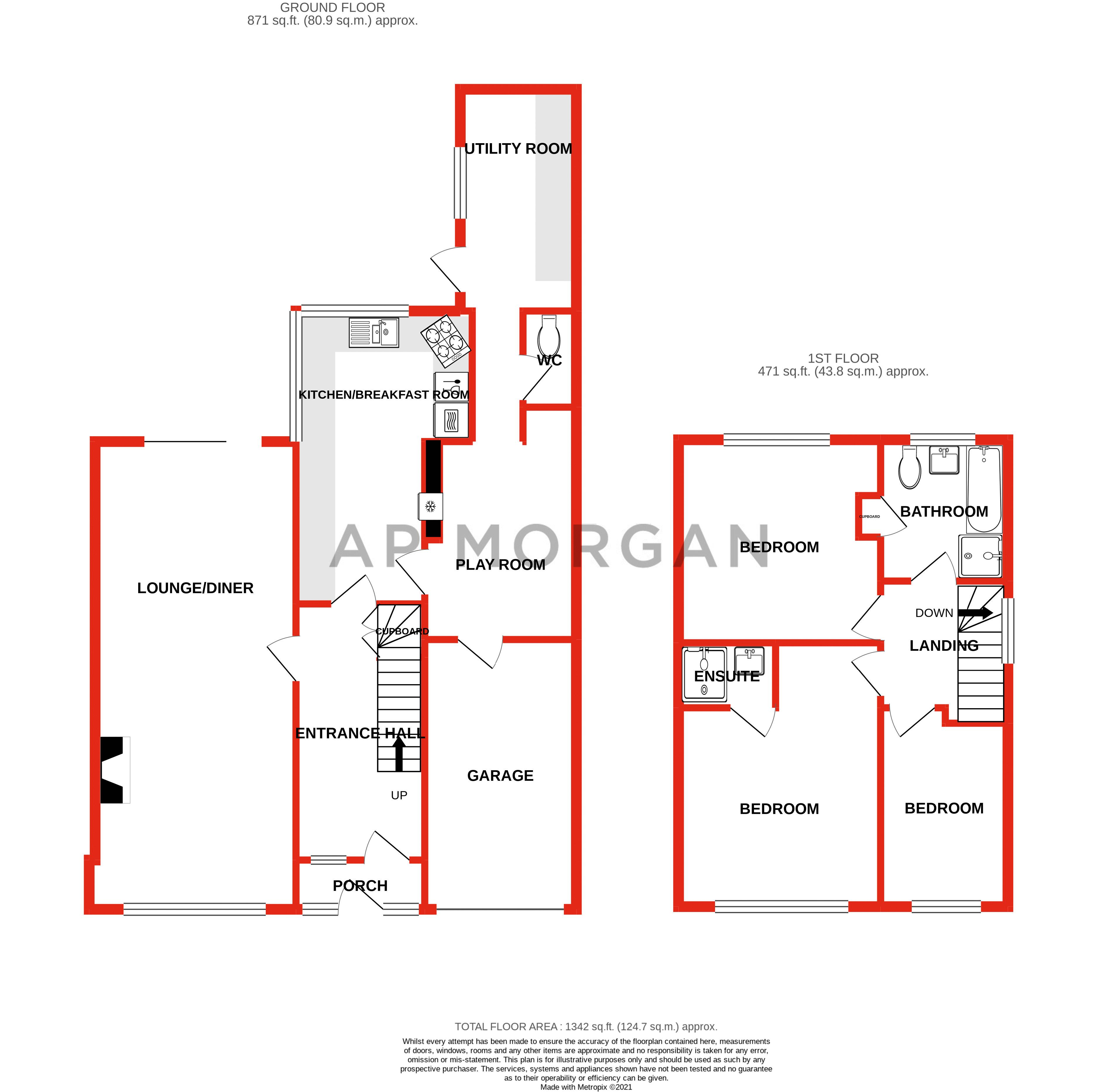 3 bed house for sale in Barrs Road - Property Floorplan
