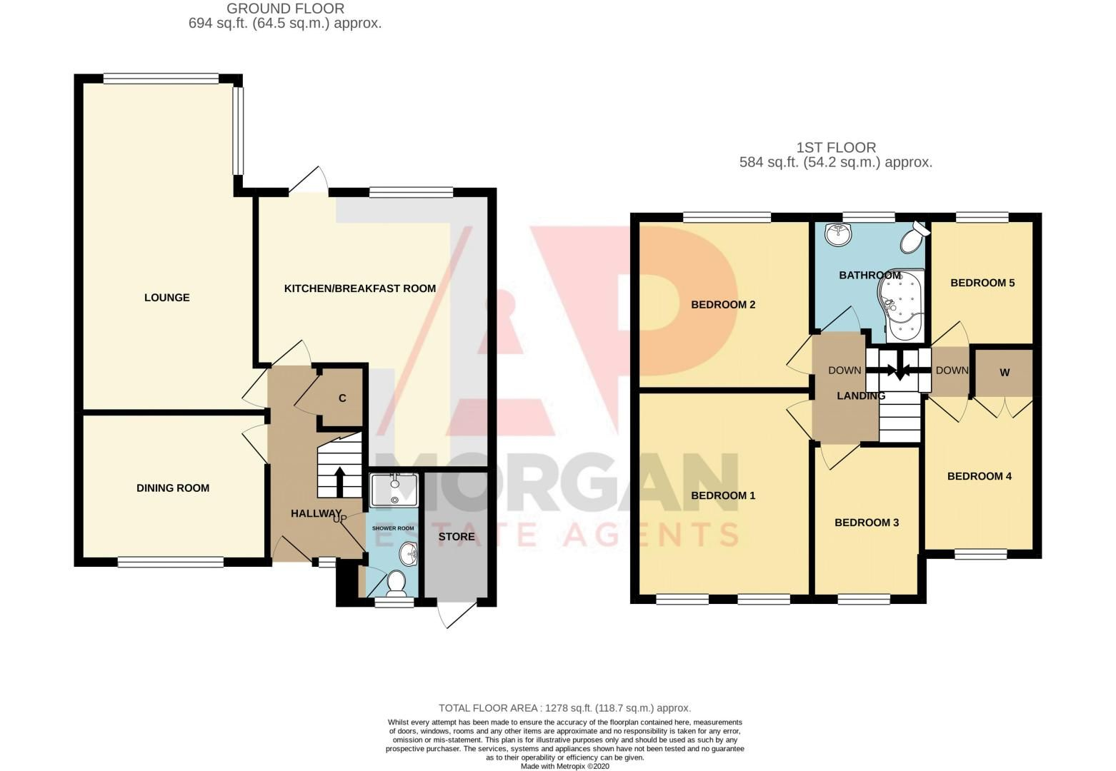 5 bed house for sale in Dunstall Road - Property Floorplan