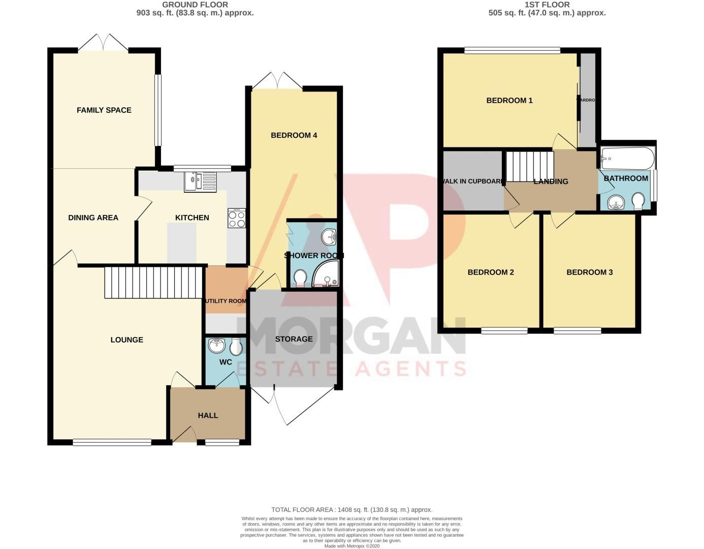 4 bed house for sale in Alveston Close - Property Floorplan