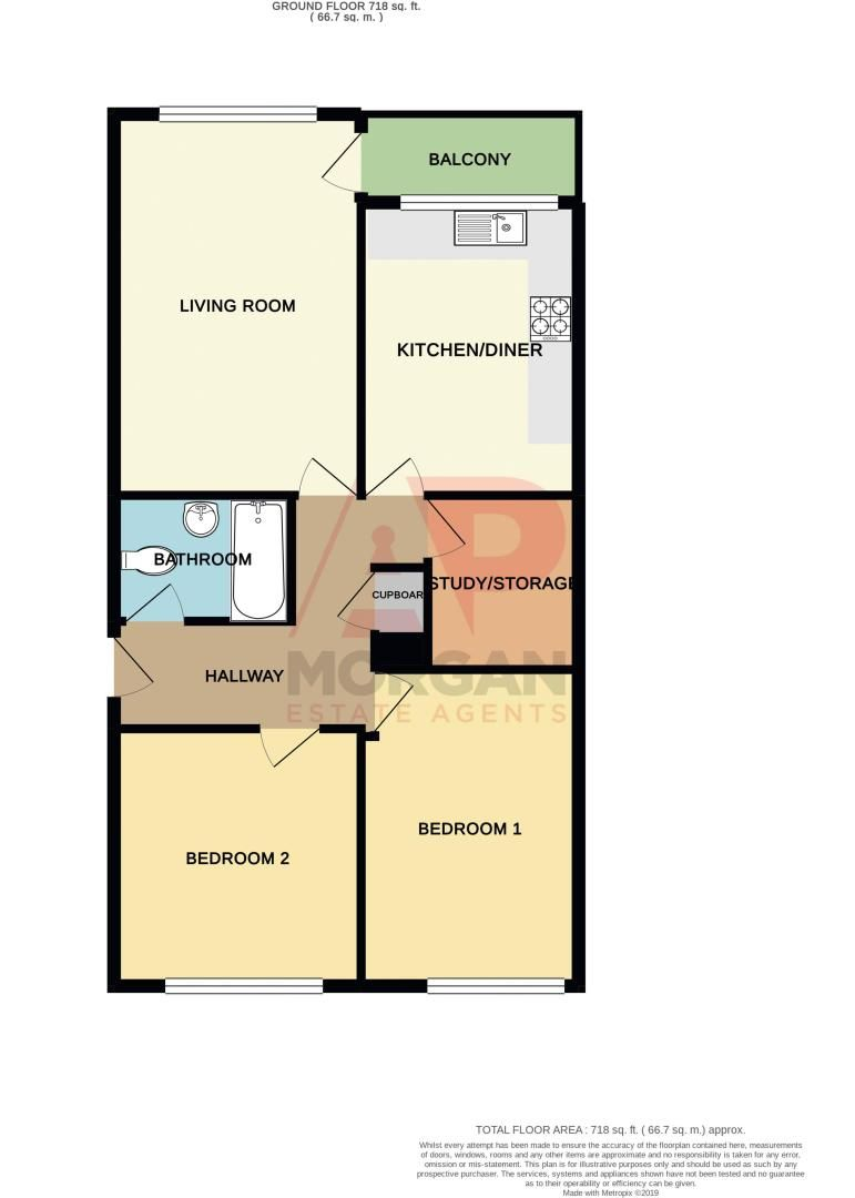 2 bed flat for sale in Leysters Close - Property Floorplan