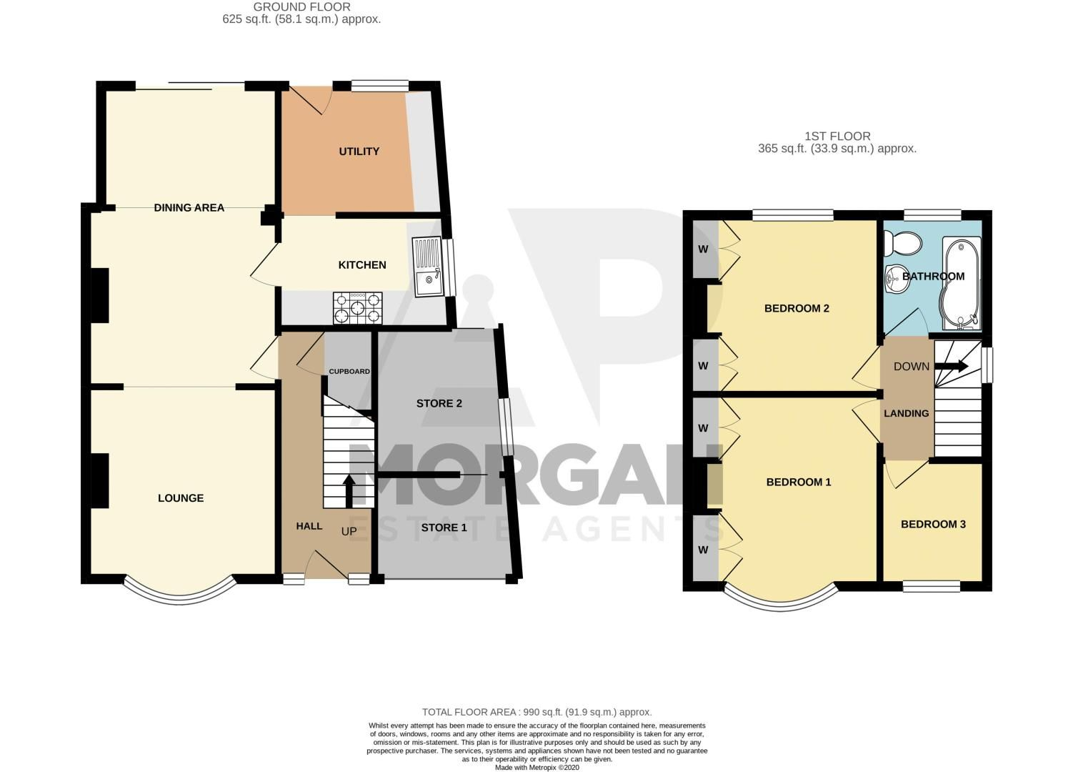 3 bed house for sale in Dennis Hall Road - Property Floorplan