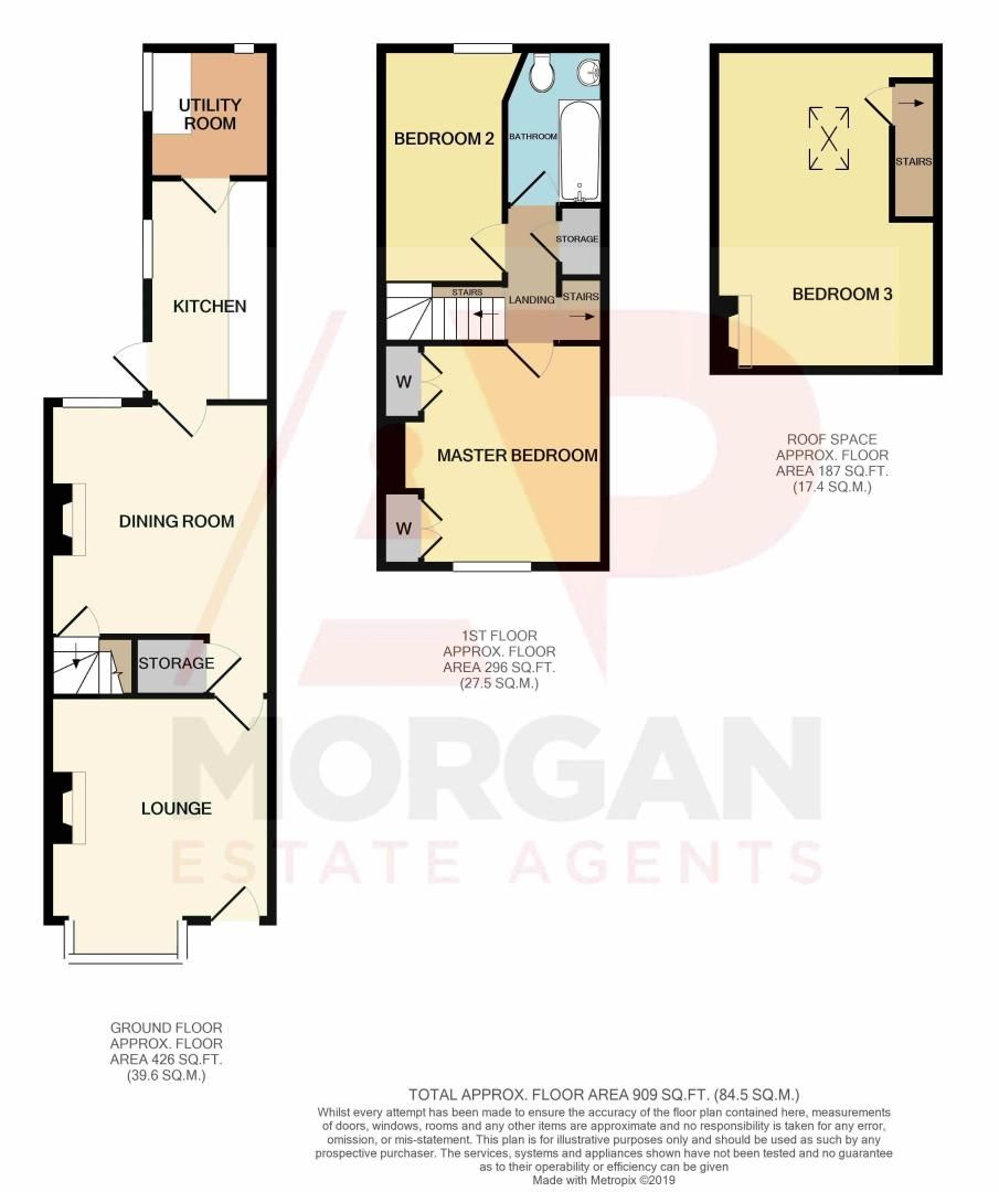3 bed  for sale in Birmingham Road - Property Floorplan