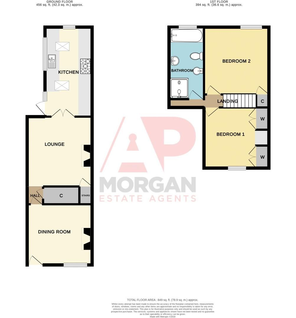 2 bed house for sale in Collis Street - Property Floorplan