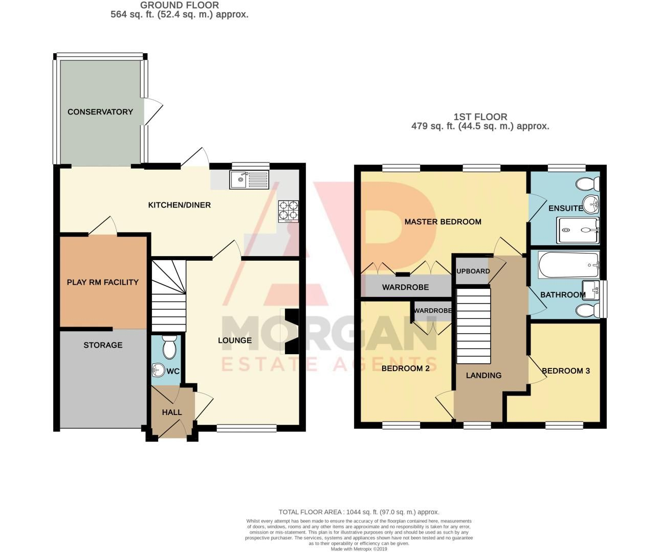 3 bed house for sale in Rosedale Close - Property Floorplan