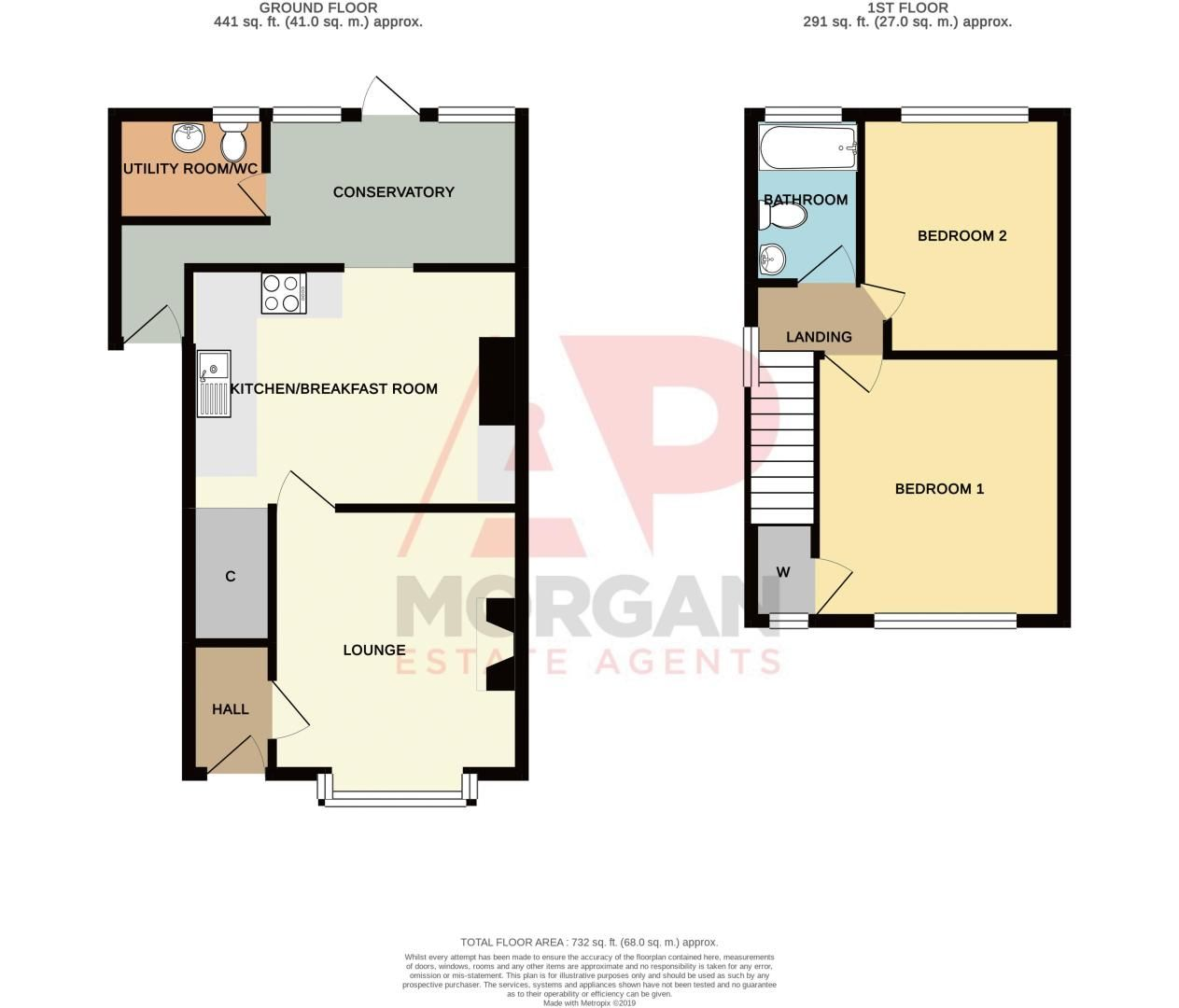 2 bed house for sale in New England - Property Floorplan
