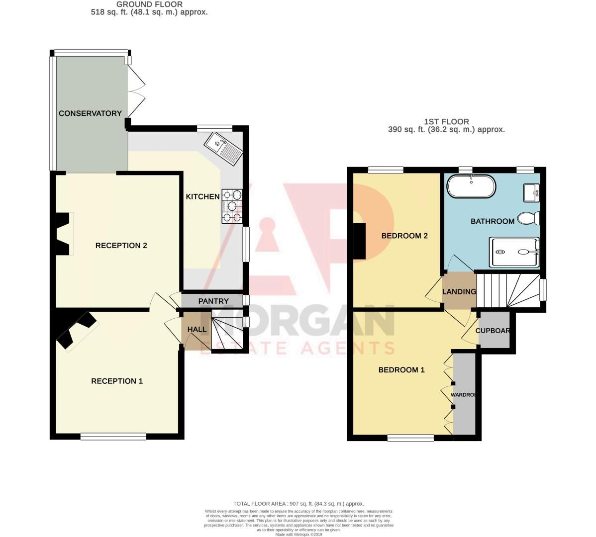 2 bed house for sale in Highfield Avenue - Property Floorplan