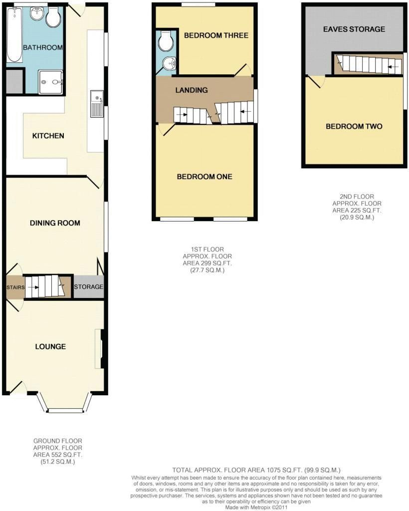 3 bed house for sale in Evesham Road - Property Floorplan