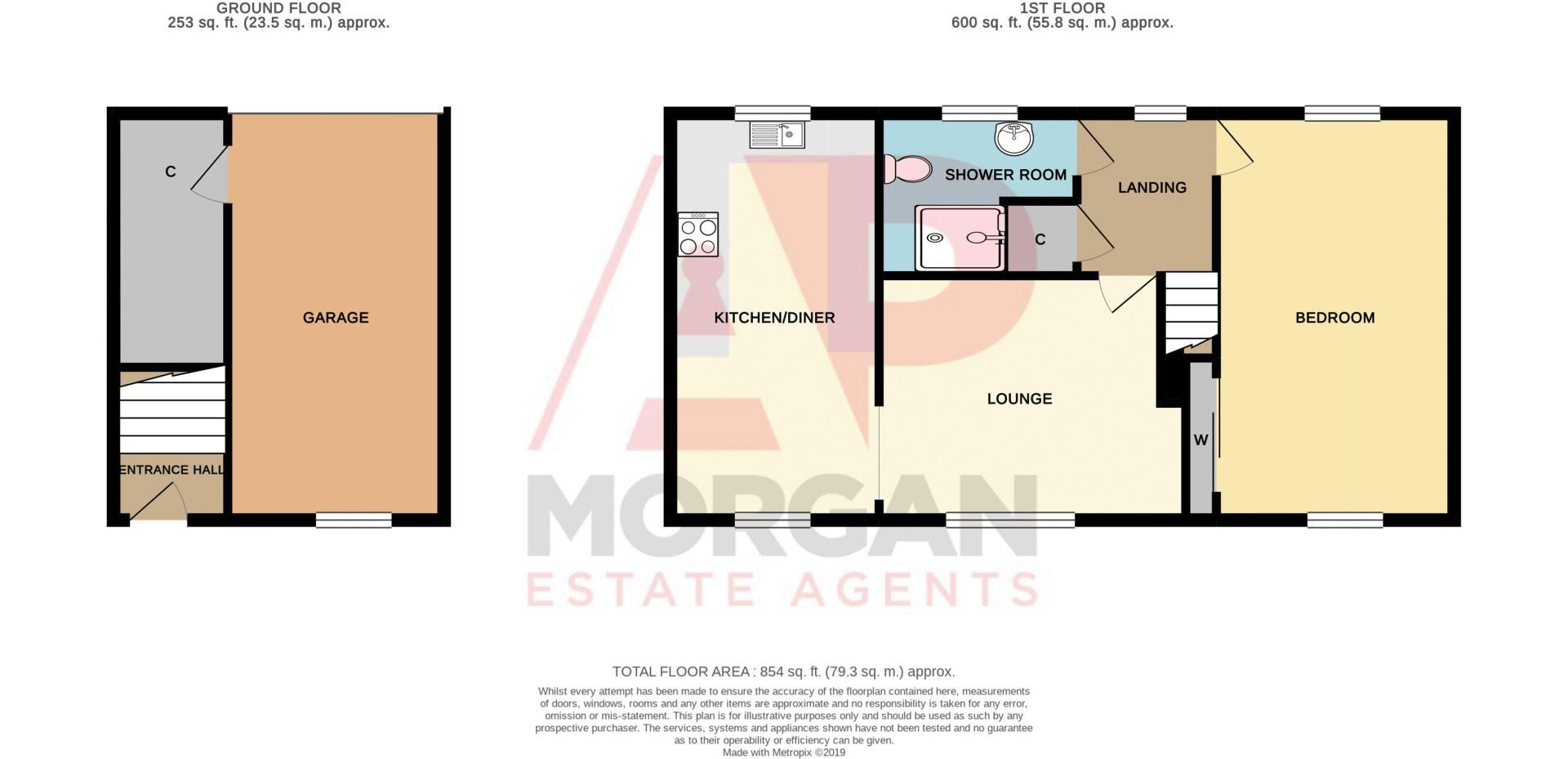 1 bed house for sale in Holly Road - Property Floorplan