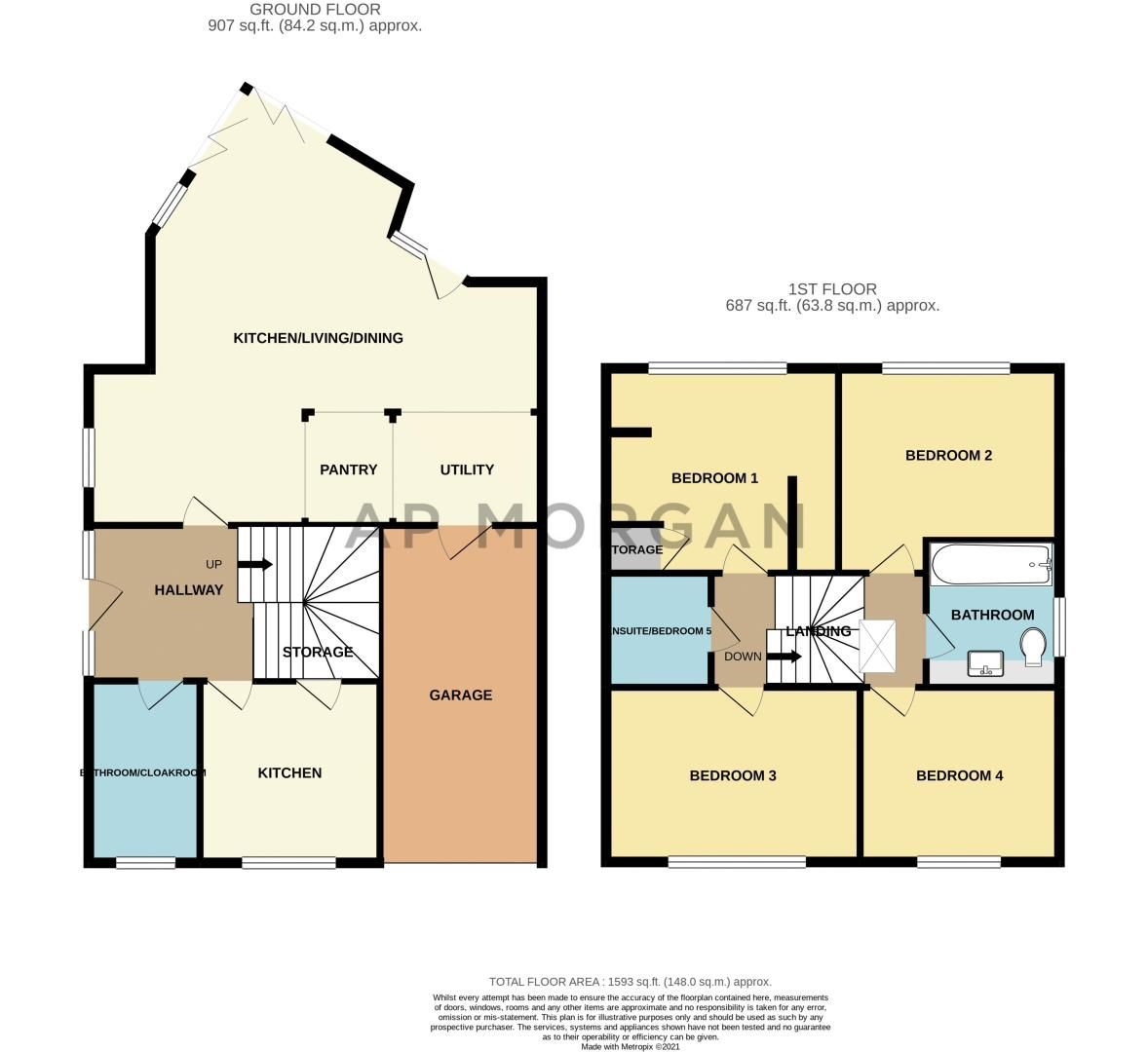 4 bed house for sale in Wentworth Road - Property Floorplan