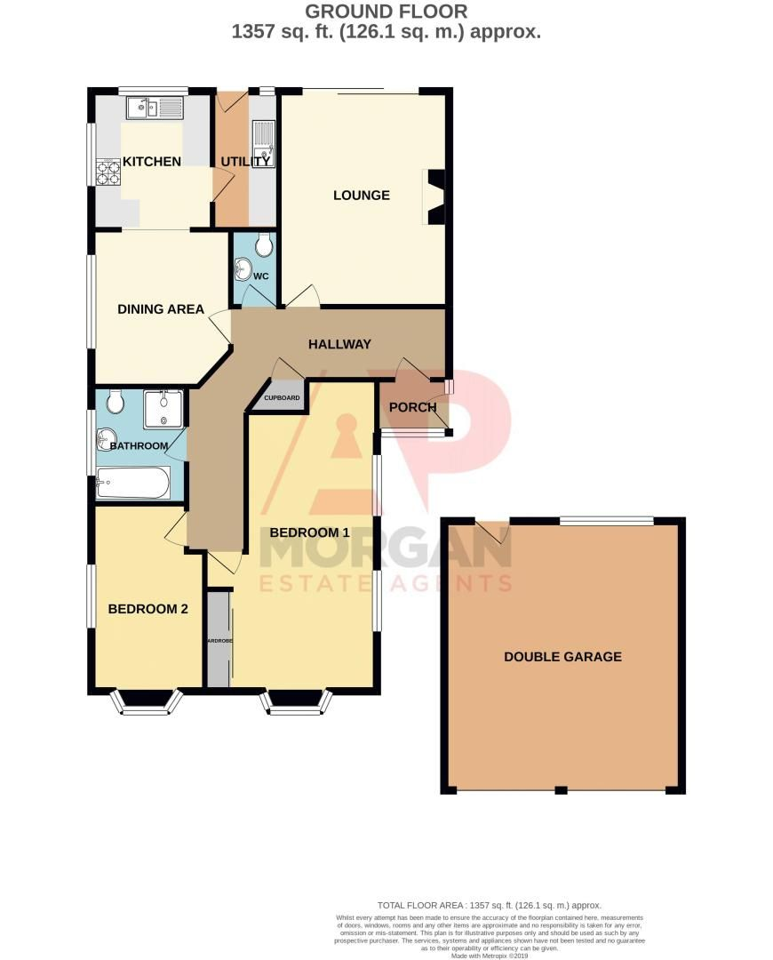 2 bed bungalow for sale in Cottage Lane - Property Floorplan