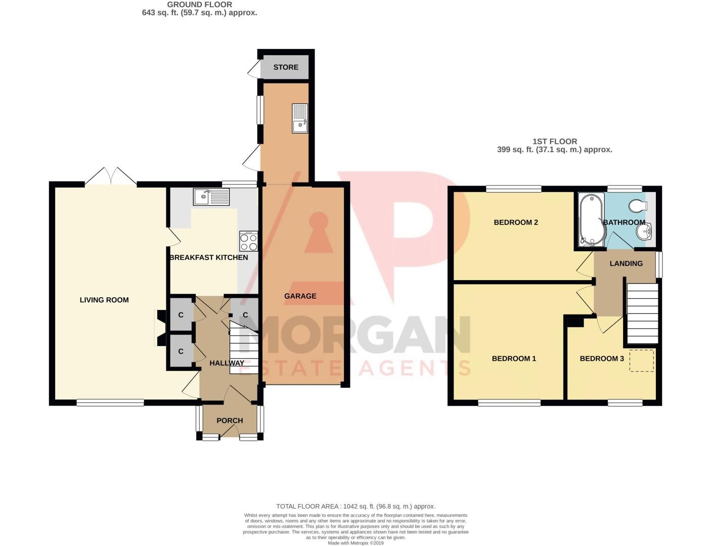 3 bed house for sale in Austin Road - Property Floorplan