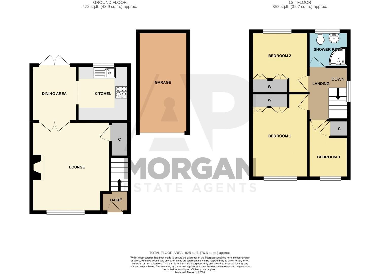 3 bed house for sale in Moorcroft Gardens - Property Floorplan