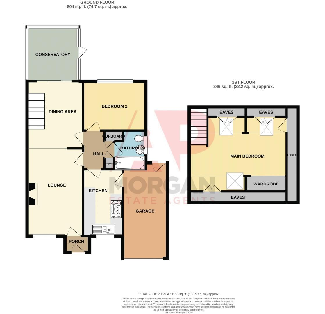 2 bed bungalow for sale in High House Drive - Property Floorplan