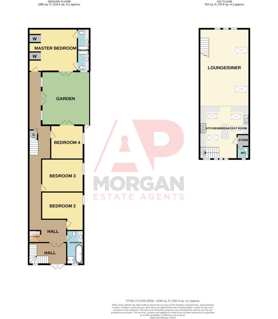 4 bed house for sale in King William Street - Property Floorplan