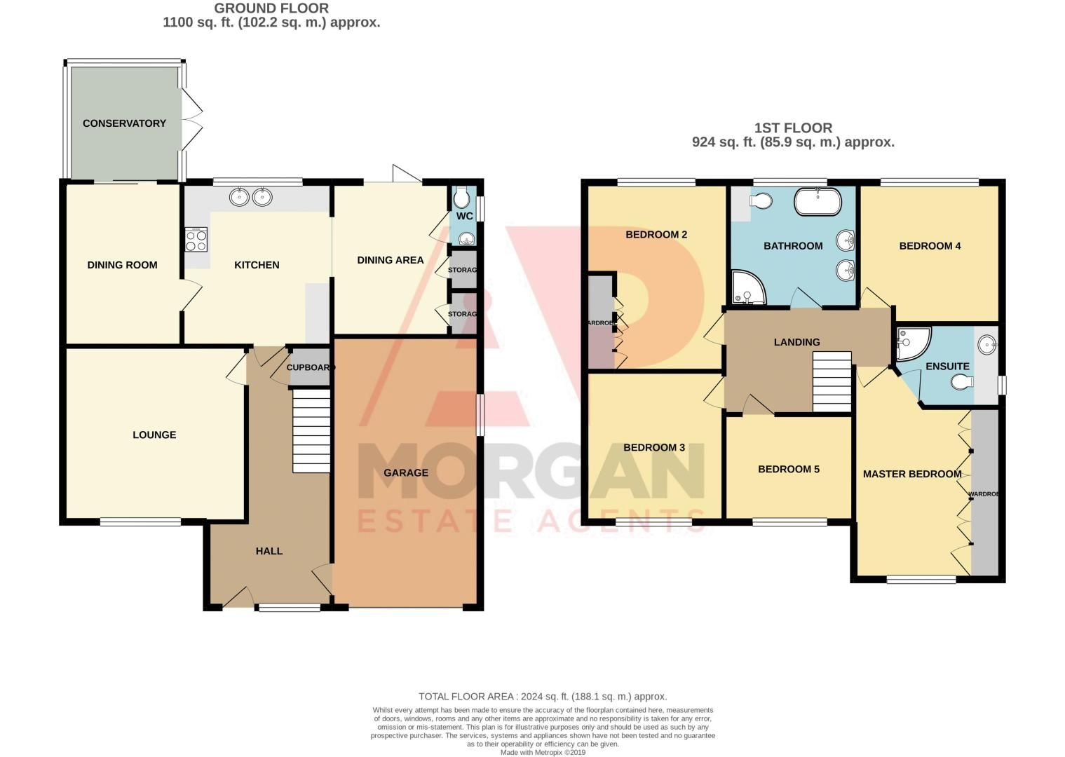 5 bed house for sale in Wolverton Close - Property Floorplan