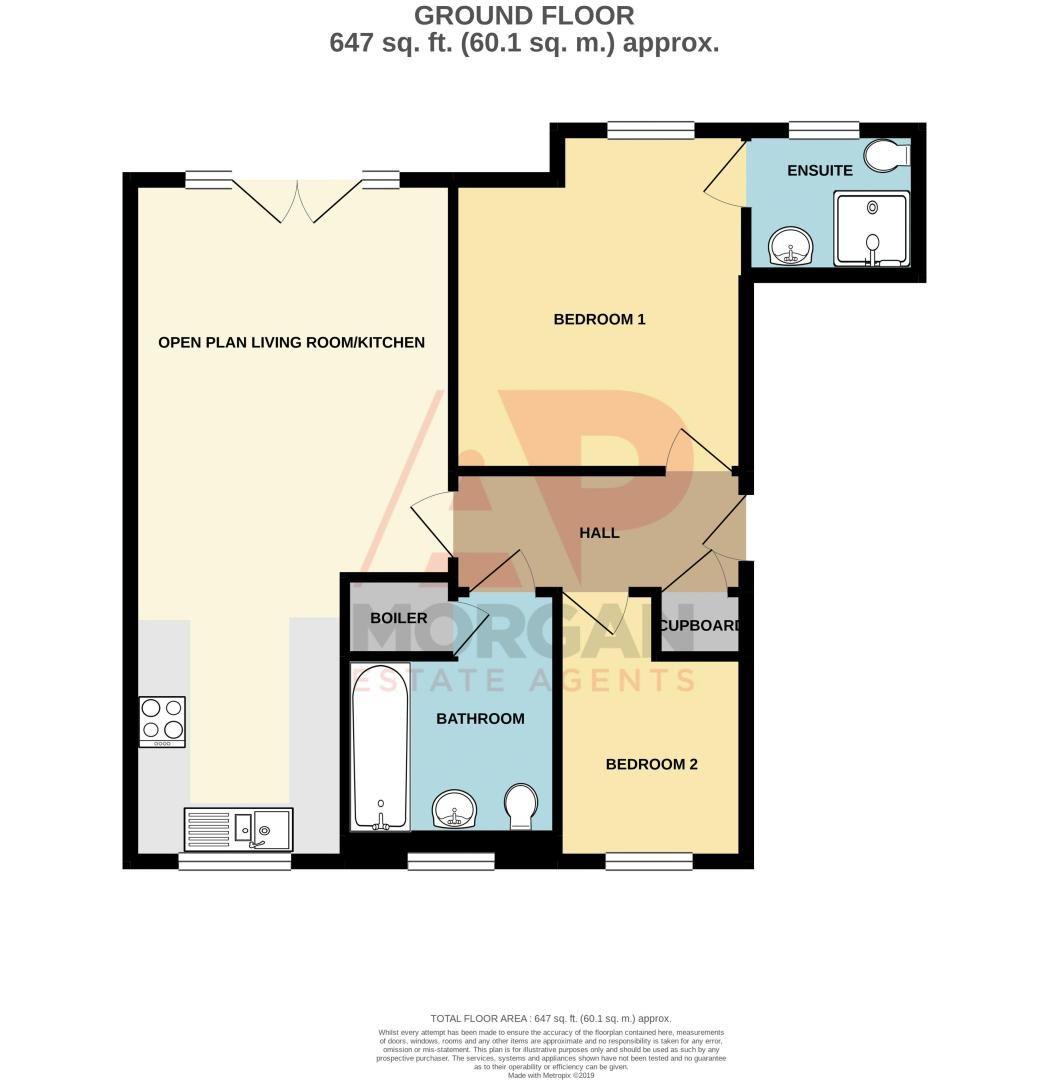 2 bed flat for sale in Alder Carr Close - Property Floorplan