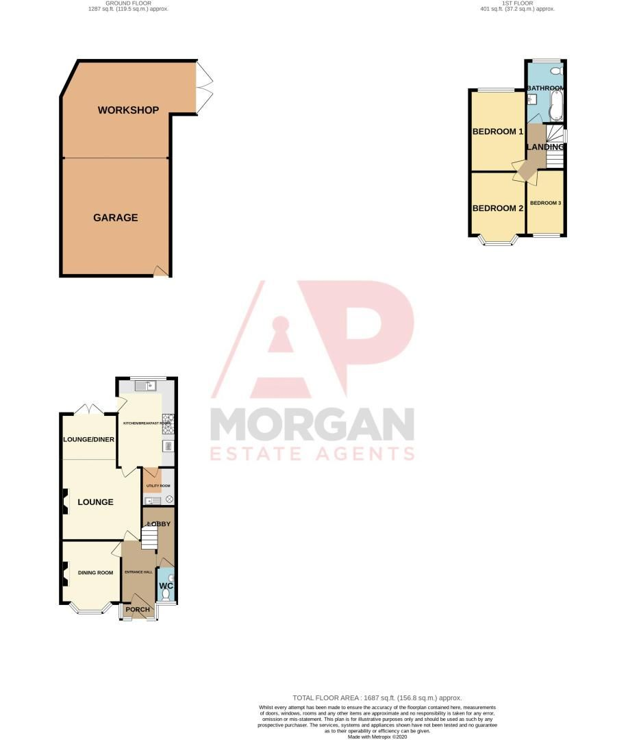 3 bed house for sale in Astley Crescent - Property Floorplan
