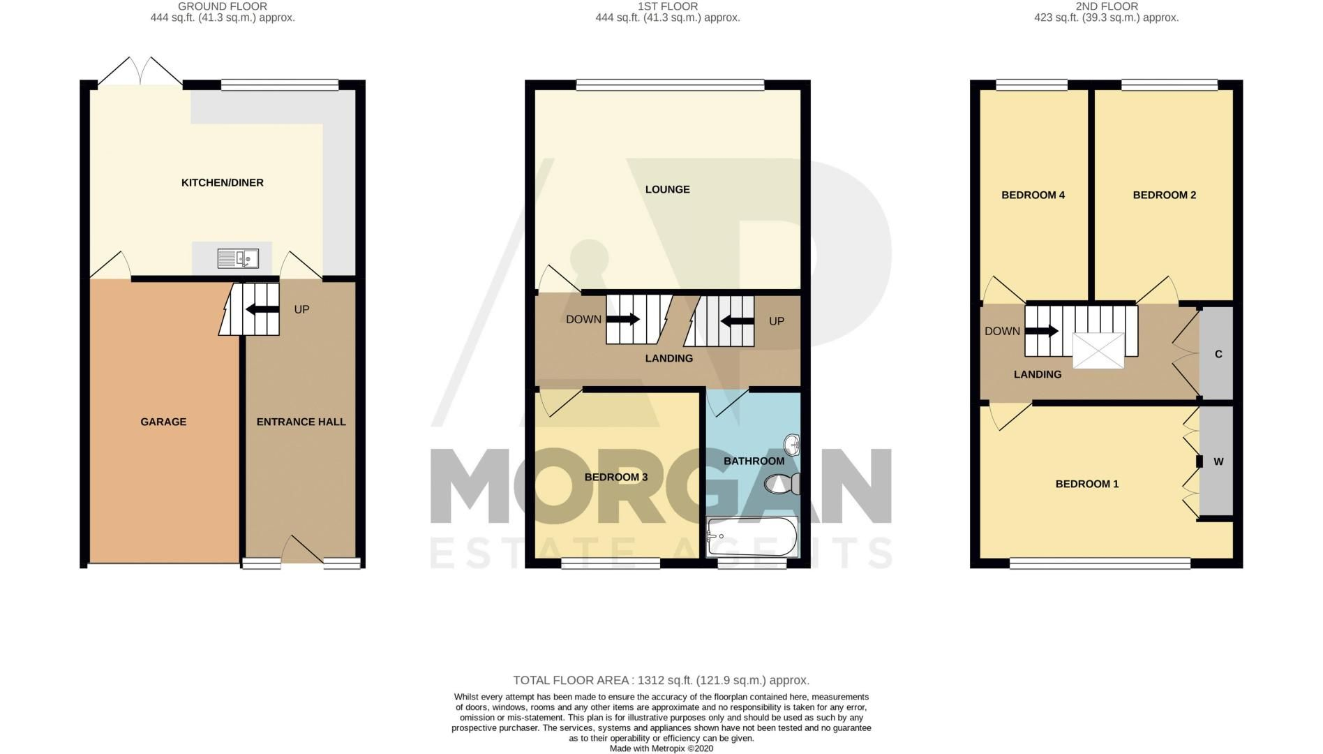 3 bed house for sale in Mayfield Road - Property Floorplan