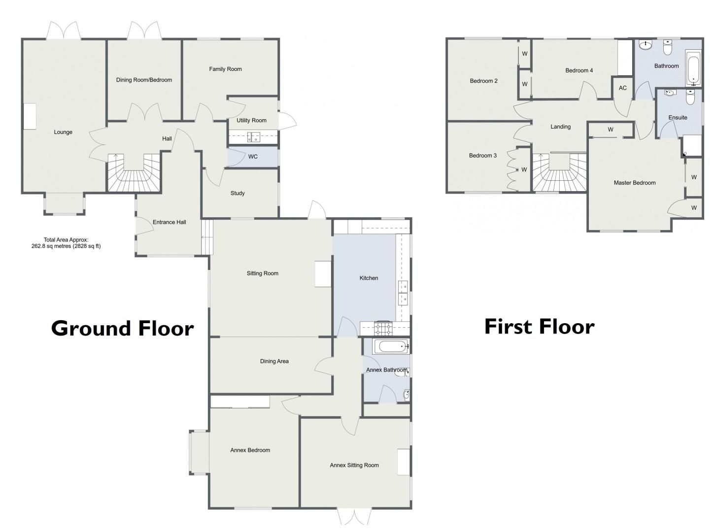 5 bed house for sale in Brookfield Close - Property Floorplan