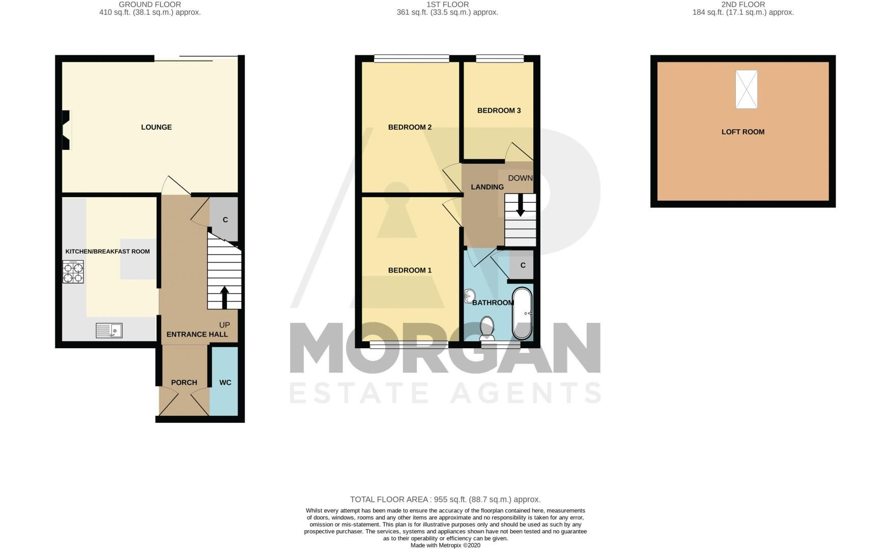 3 bed house for sale in Clee Road - Property Floorplan