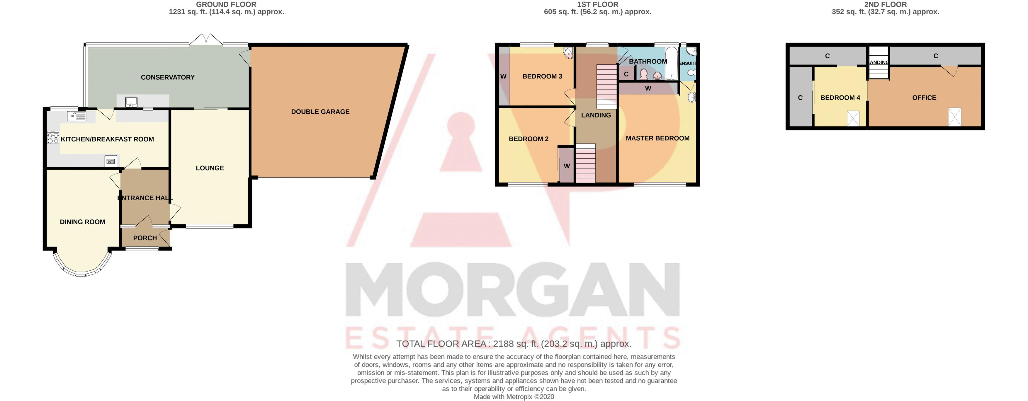 4 bed house for sale in Chawn Hill - Property Floorplan
