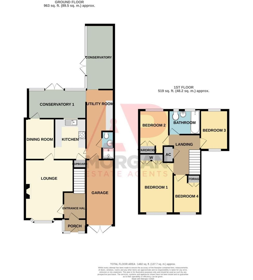 4 bed house for sale in Middleton Close - Property Floorplan