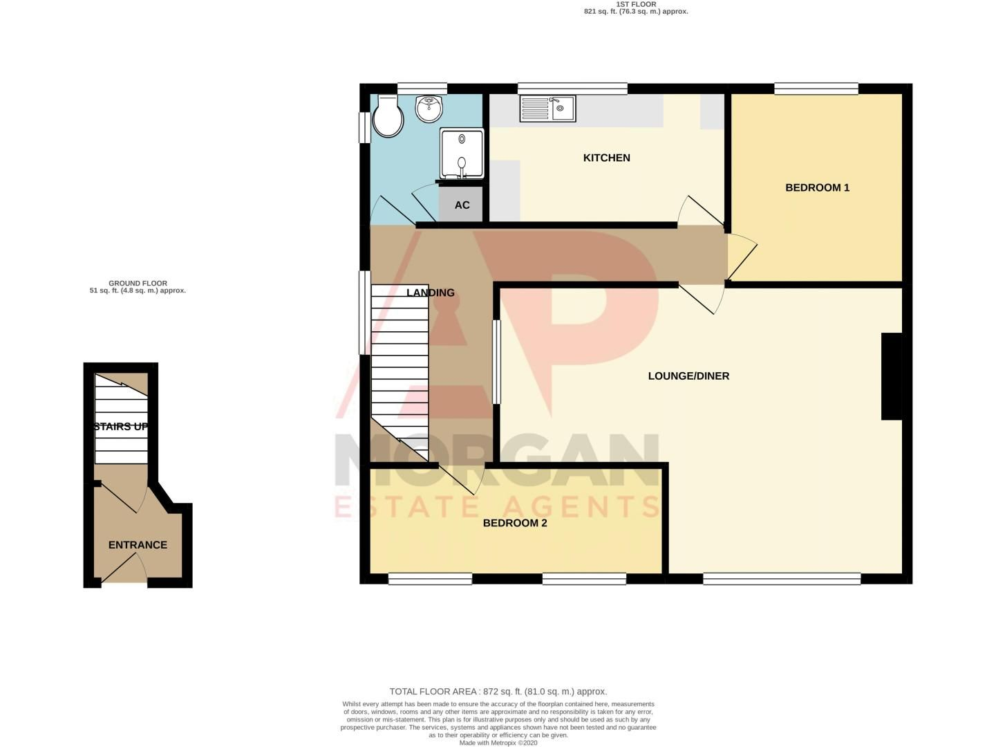 2 bed flat for sale in Golden Cross Lane - Property Floorplan