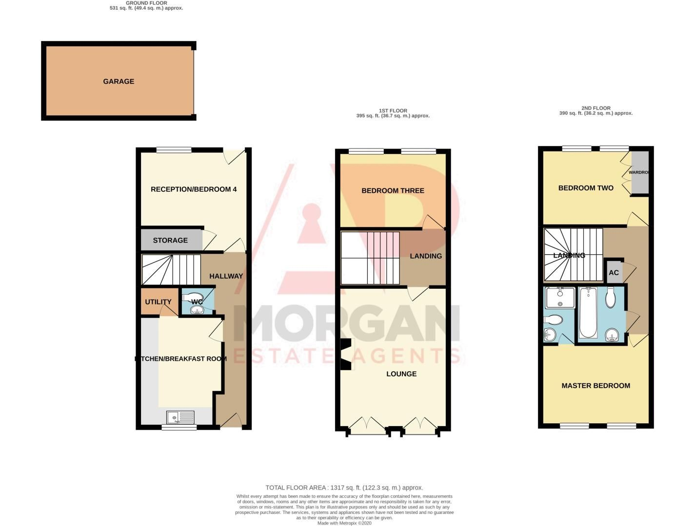 3 bed house for sale in Pastorale Road - Property Floorplan