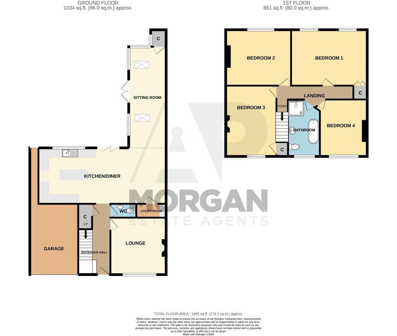 4 bed house for sale in South Avenue - Property Floorplan