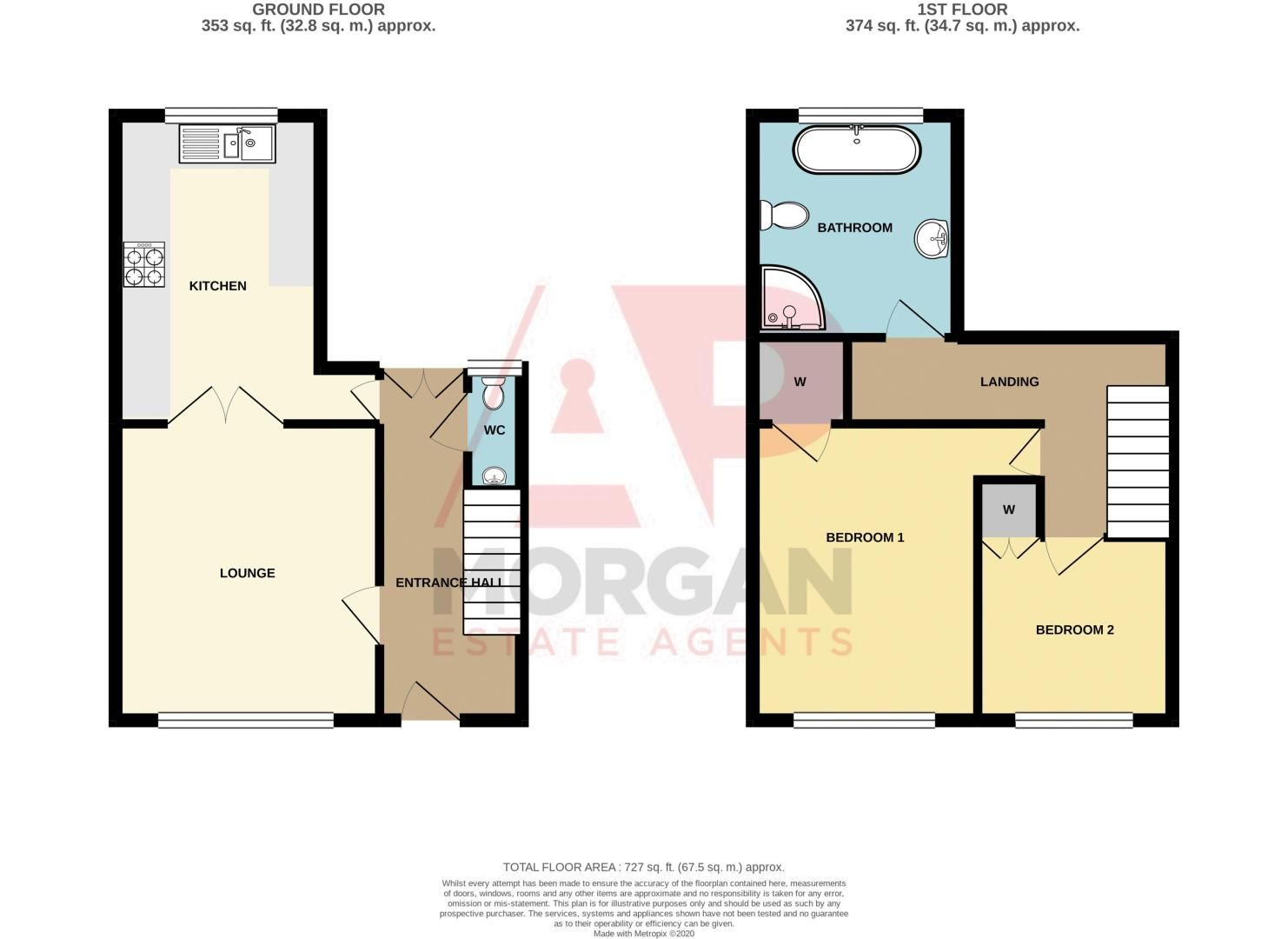 2 bed house for sale in West Road - Property Floorplan