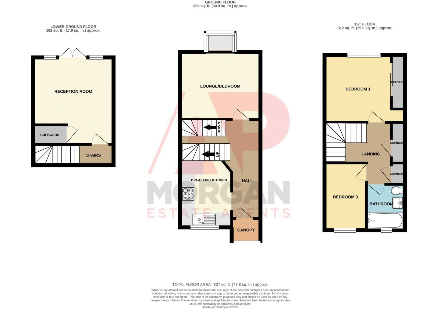 3 bed house for sale in Minworth Close - Property Floorplan