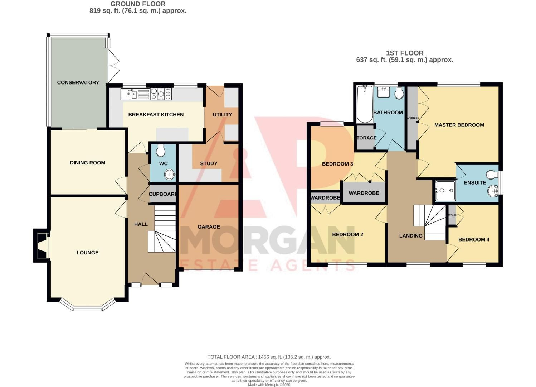 4 bed house for sale in Nine Days Lane - Property Floorplan