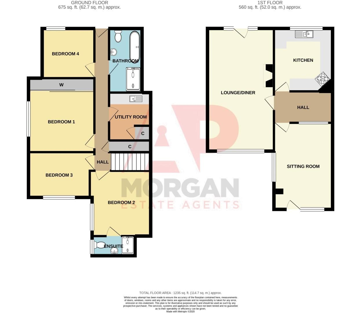 4 bed house for sale in Chawn Park Drive - Property Floorplan