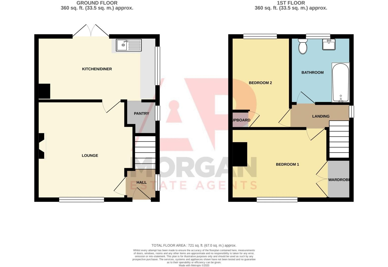 2 bed house for sale in Old Birmingham Road - Property Floorplan