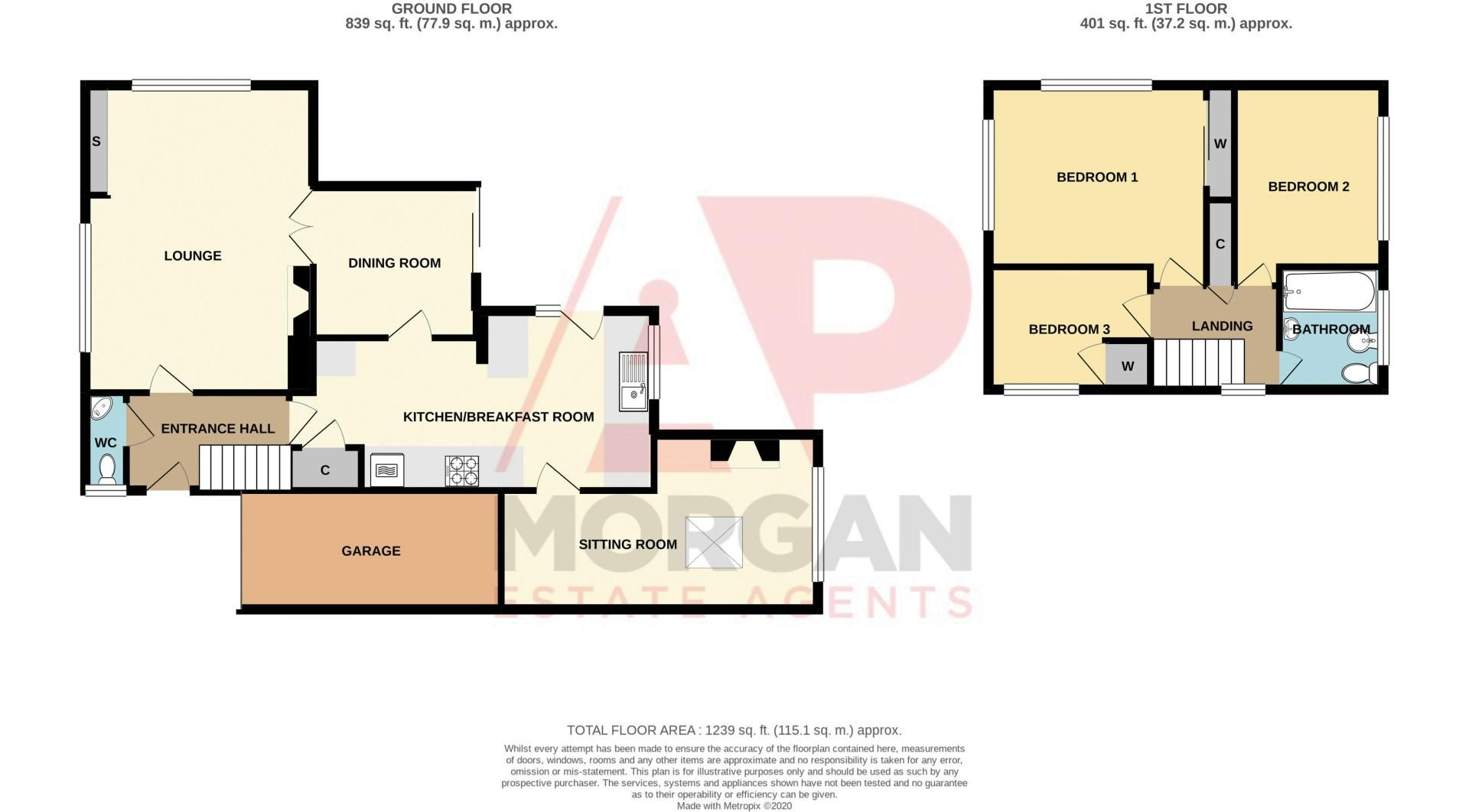 3 bed house for sale in Winchester Drive - Property Floorplan