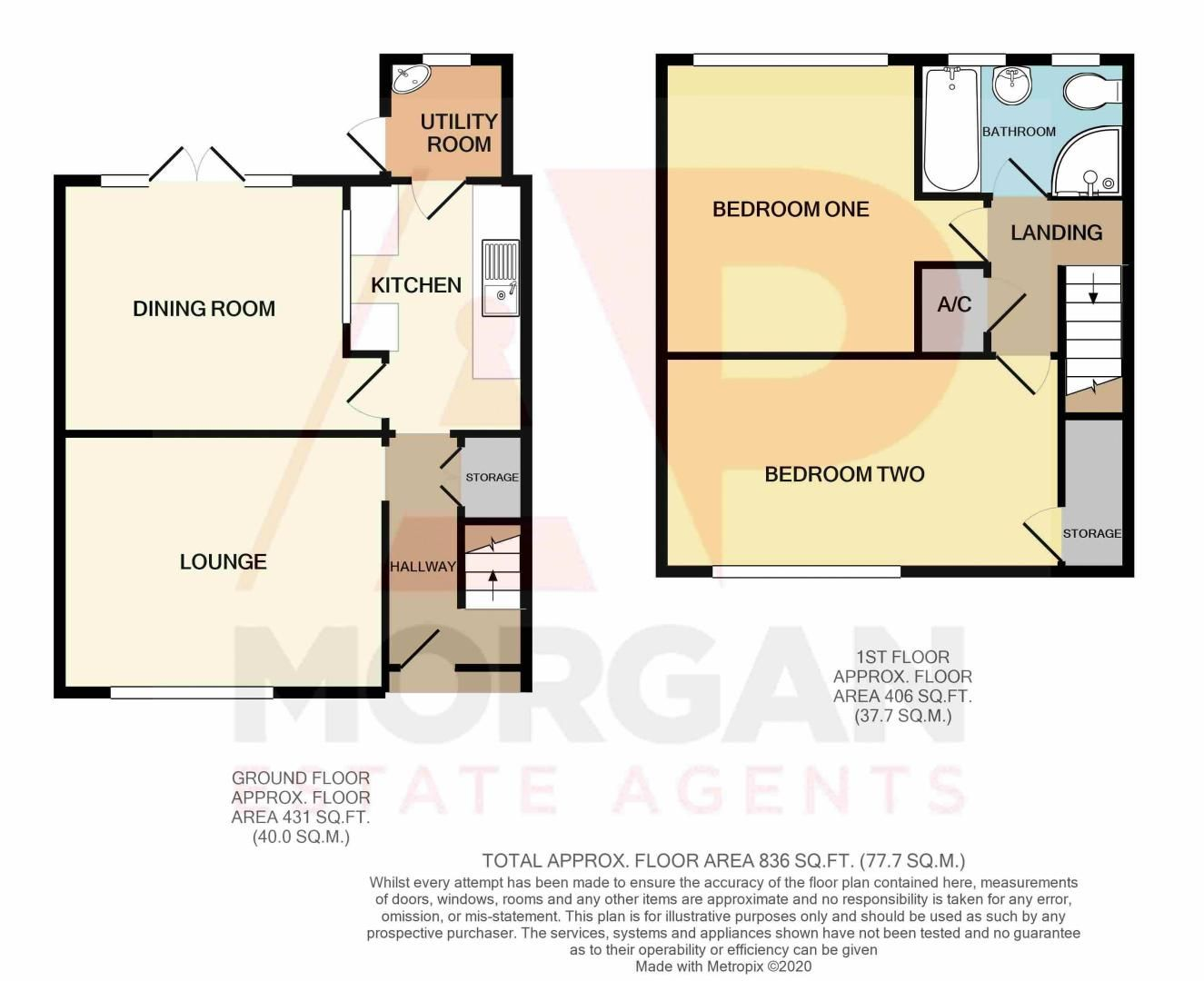 2 bed house for sale in Sandygate Close - Property Floorplan