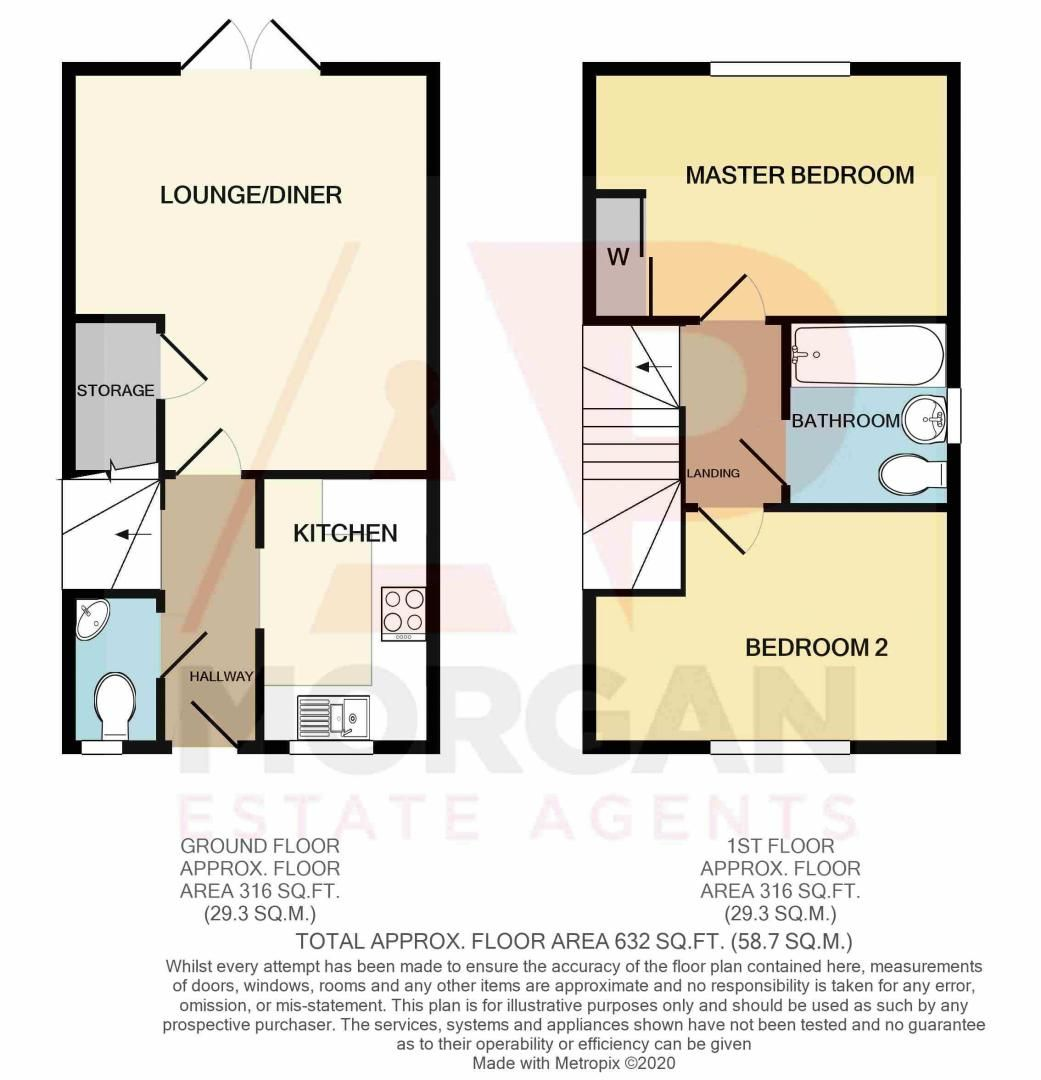 2 bed house for sale in Gretton Close - Property Floorplan
