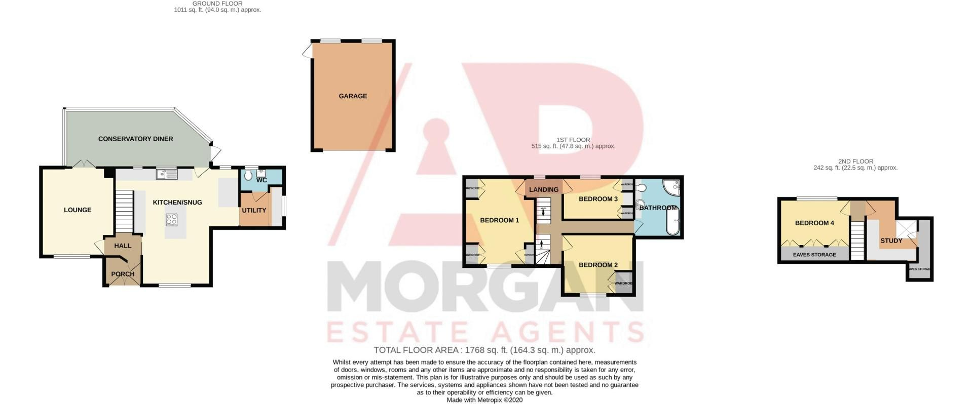4 bed house for sale in Stoney Bridge - Property Floorplan