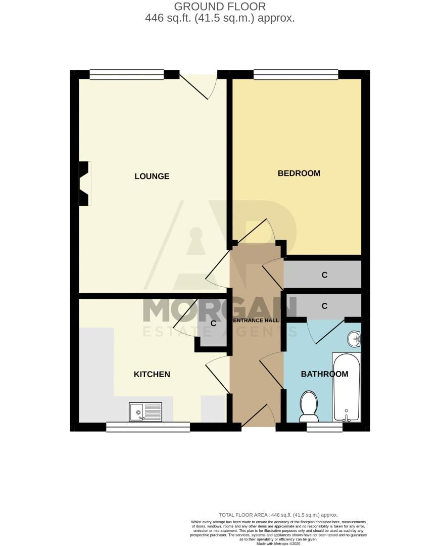1 bed bungalow for sale in Stourbridge Road - Property Floorplan