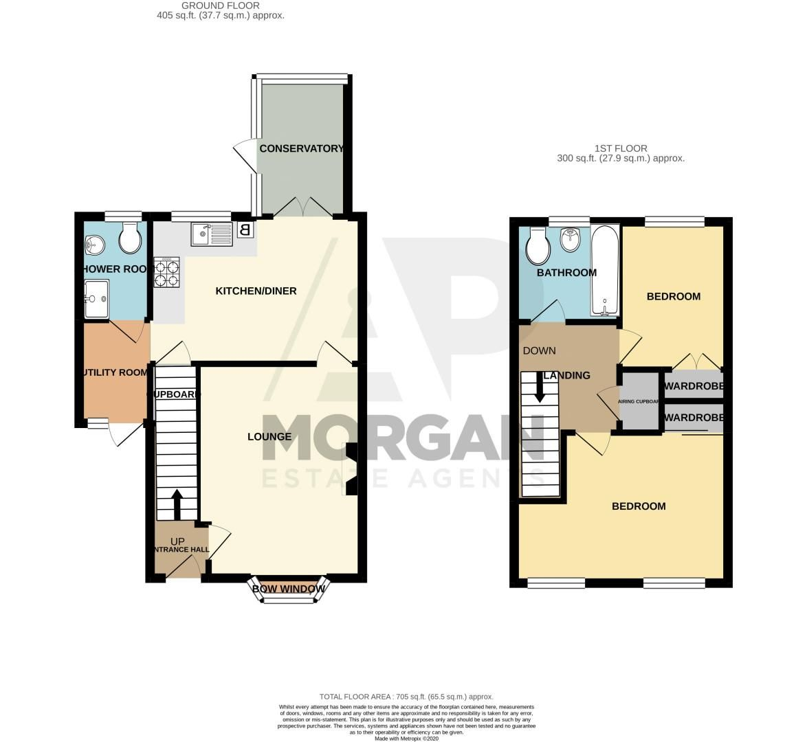 2 bed house for sale in Michaelwood Close - Property Floorplan