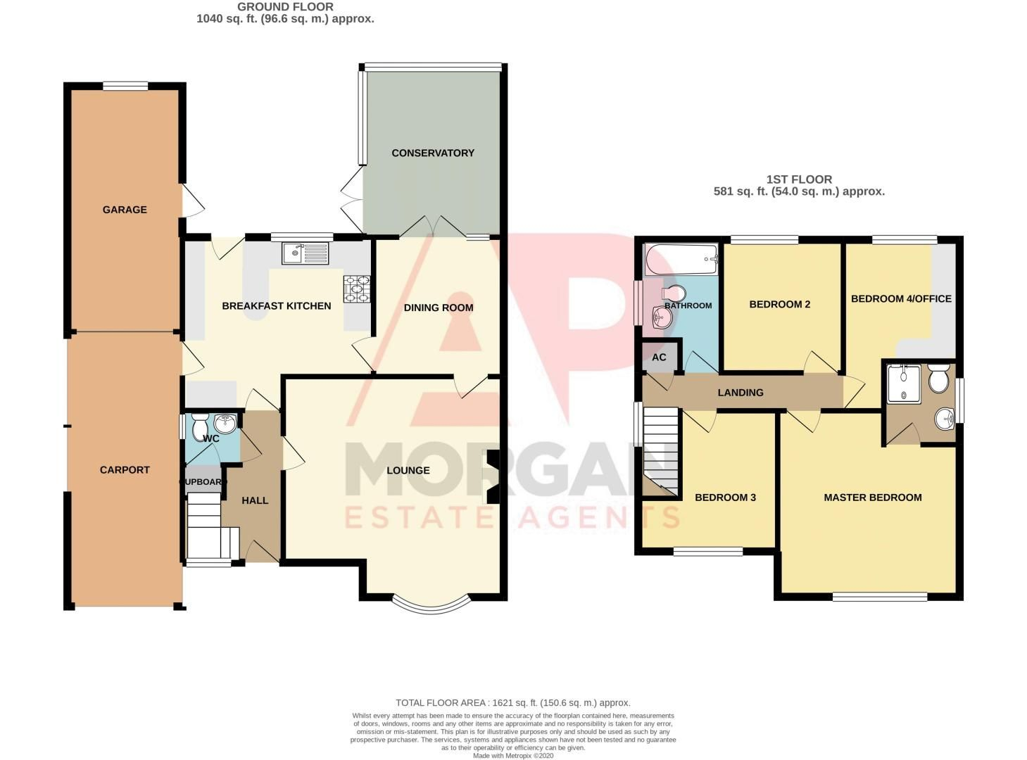 4 bed house for sale in Barley Croft - Property Floorplan
