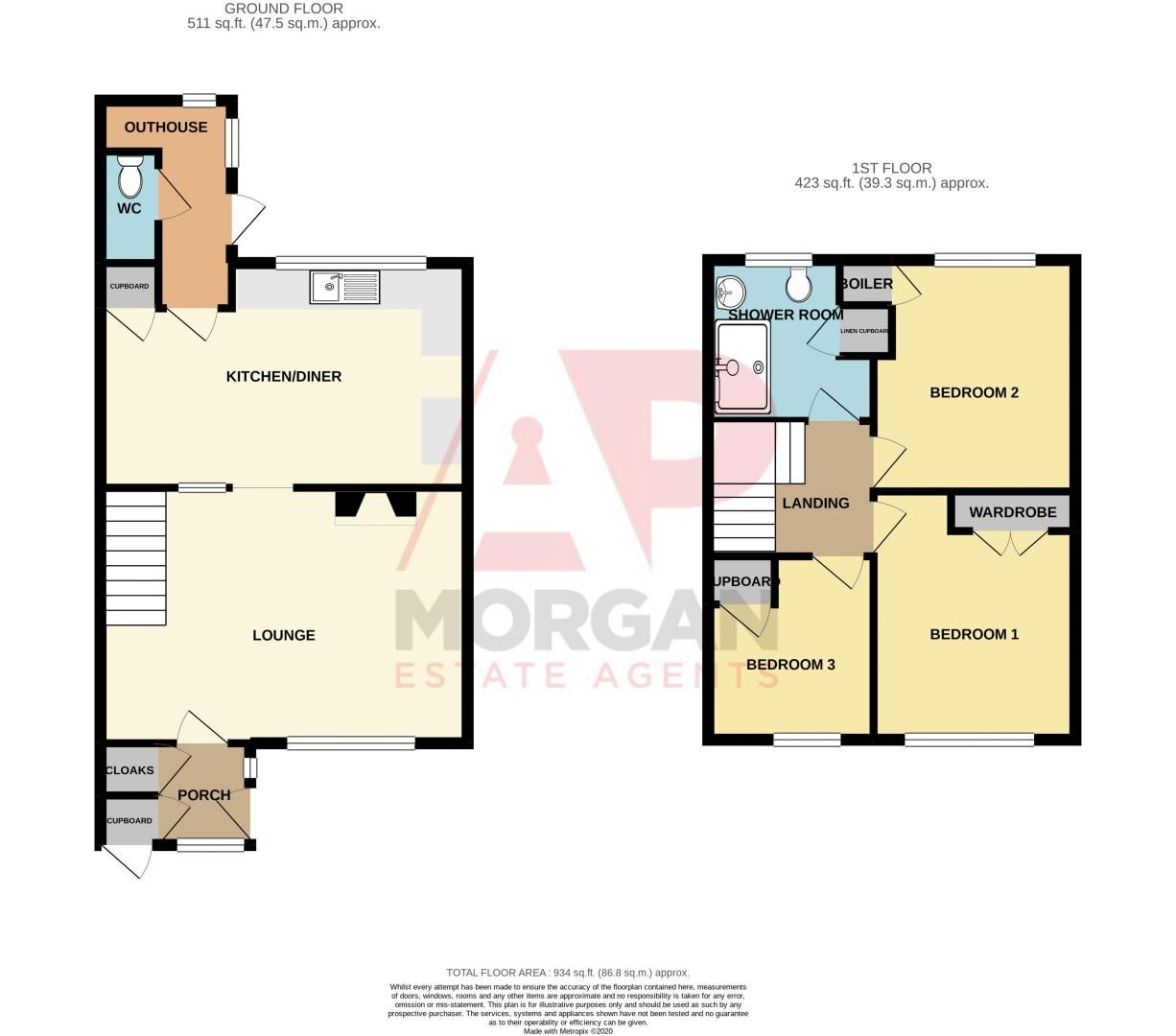 3 bed house for sale in Crabtree Close - Property Floorplan
