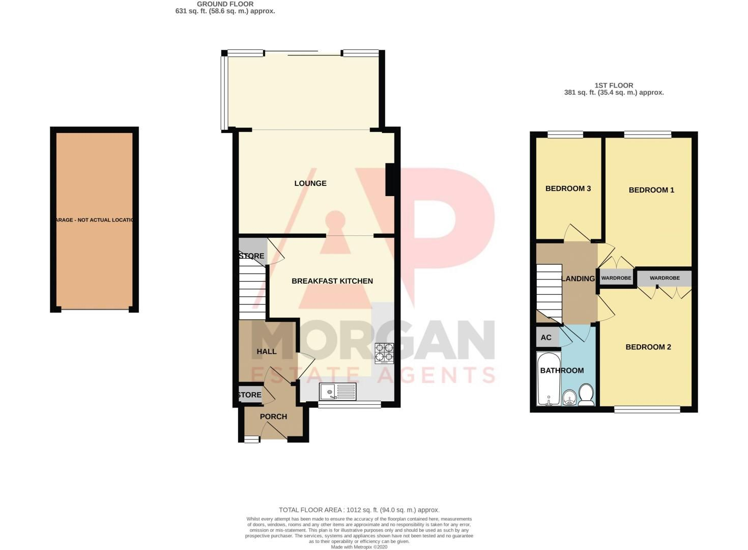 3 bed house for sale in Merevale Close - Property Floorplan