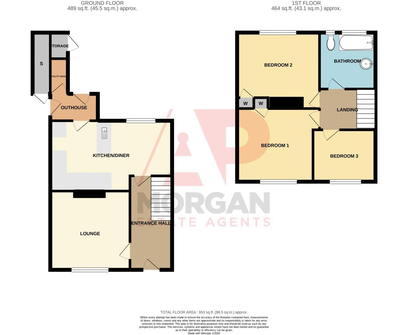 3 bed house for sale in Shenstone Avenue - Property Floorplan