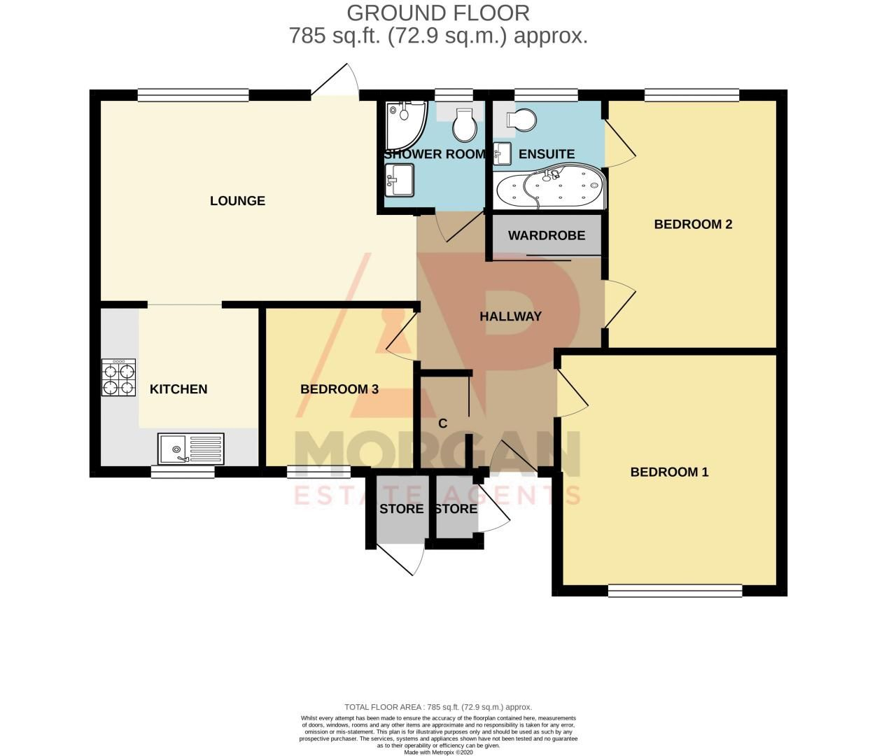 3 bed bungalow for sale in Beech Tree Close - Property Floorplan