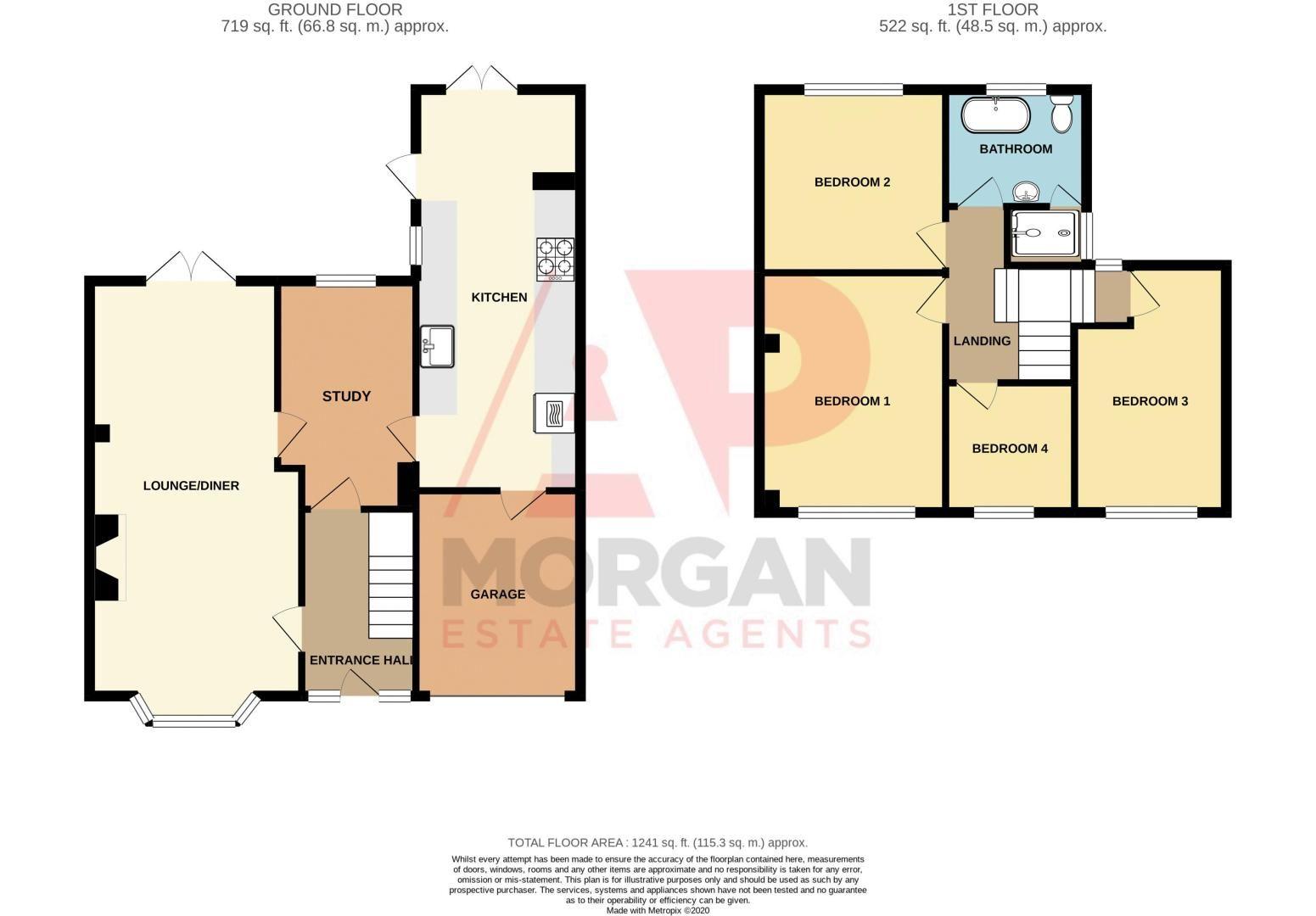 4 bed  for sale in Brueton Avenue - Property Floorplan