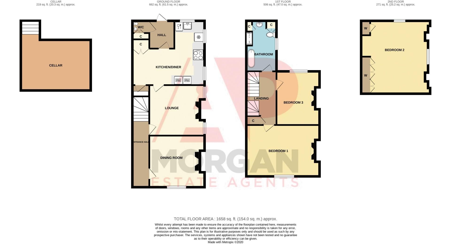 3 bed house for sale in West Road - Property Floorplan